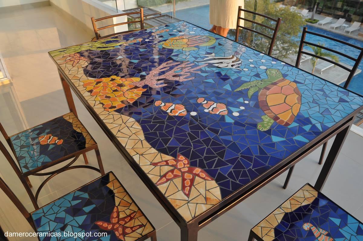 Arquitectura de casas azulejos y mosaicos de cer mica for Mosaico ceramica