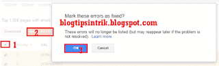 cara menghapus crawl errors atau page not found di google webmaster tools