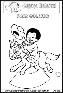 Desenho de cavalinho para colorir