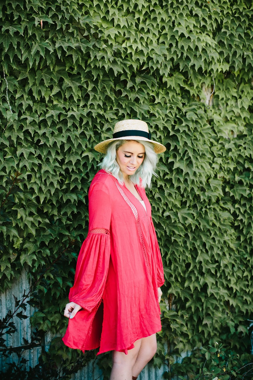 Free People, Red Dress