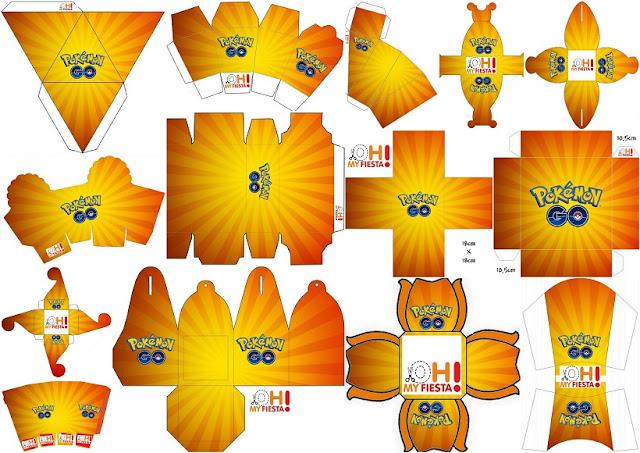 Pokemon Go: Cajas para Imprimir Gratis.