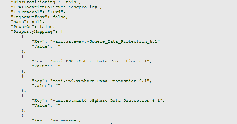 Deploying vSphere Data Protection From govc CLI ~ virtuallyPeculiar