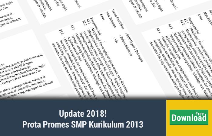 Prota Promes SMP Kurikulum 2013
