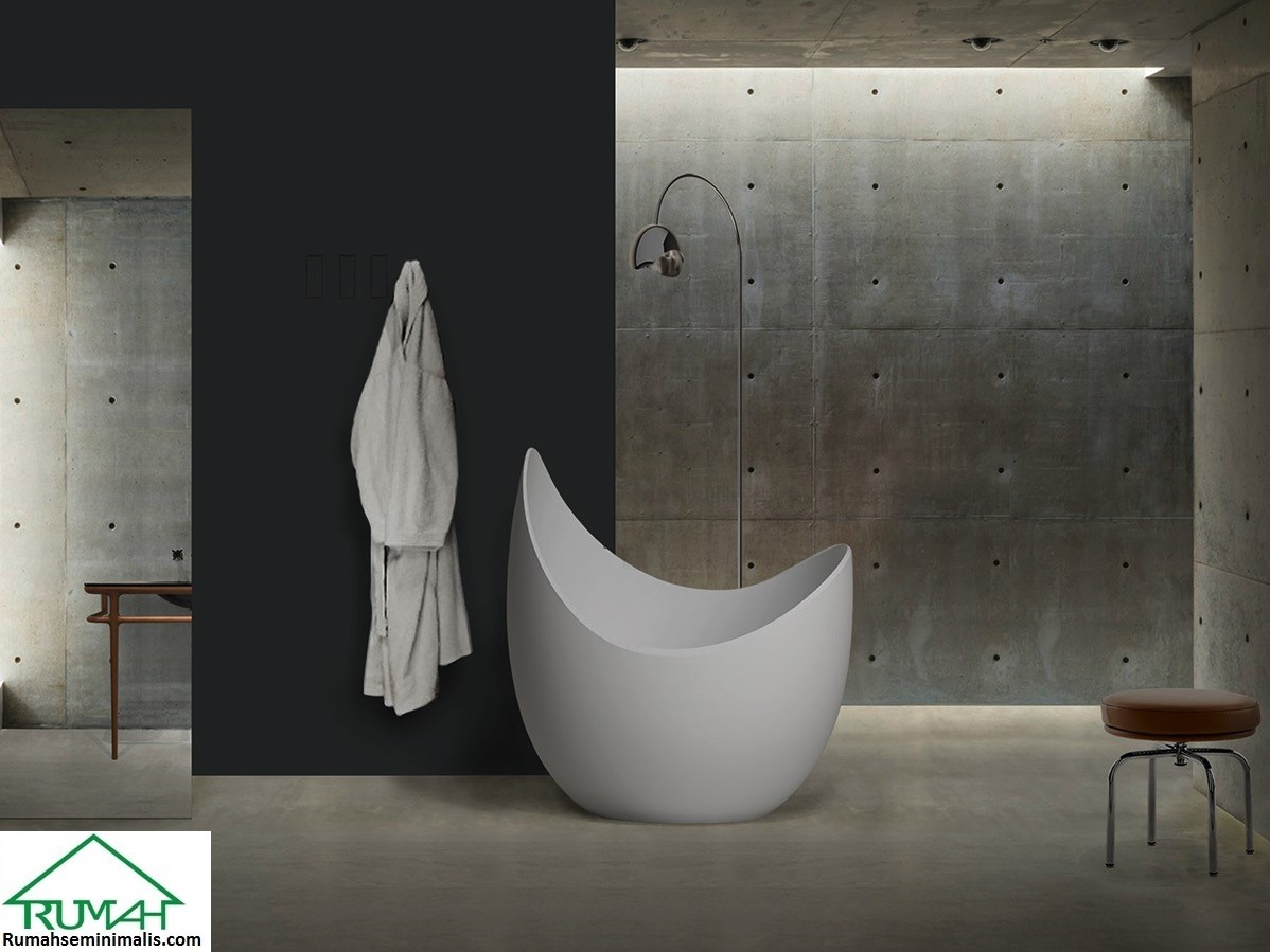 Kumpulan Denah Model Desain Gambar Kamar Mandi Minimalis Modern