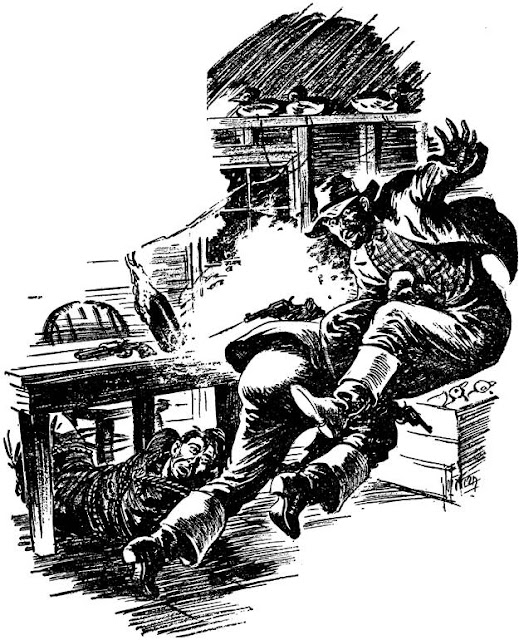 Dime Detective June 1943 - Double Trouble - Byron W. Dalrymple - illustration by Joe Farren