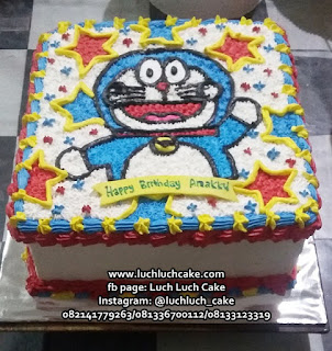 Birthday Cake Doraemon Buttercream Cake