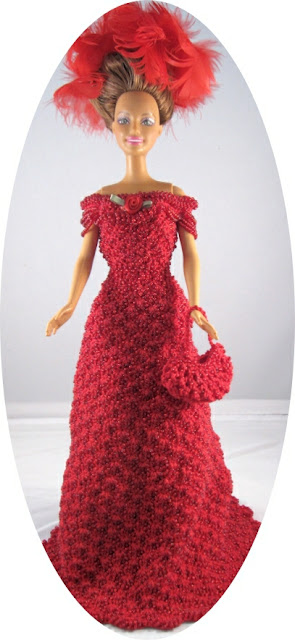 Barbie Crochet 1908 Beaded Theater Gown Costume