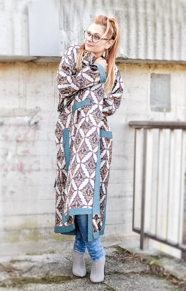 Kimono mantel damen