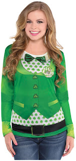 St. Patrick's Day Women's Long Sleeve Top S/M