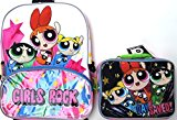 Power Puff New Design school book backpack and lunch bag