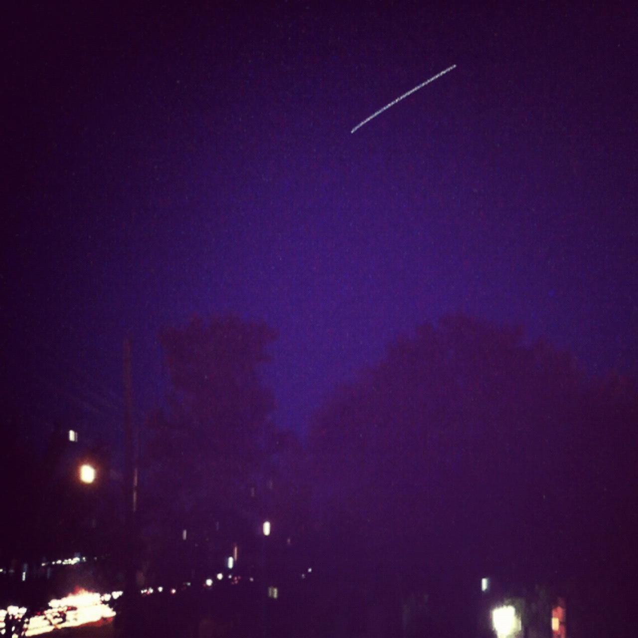 International Space Station (ISS) Using Slow Shutter Cam