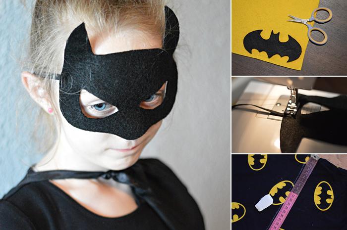 strój batmana, strój batmanki, jak samemu uszyć strój karnawałowy, maska batmana, jak zrobić maskę batmana