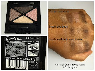 Rimmel Glam Eyes Quad in Mayfair swatched