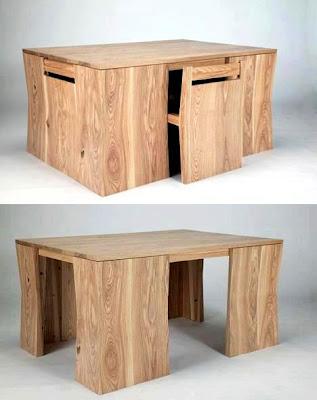 Rekaan Moden Kerusi & Meja yang Kreatif - kerusi tersembunyi