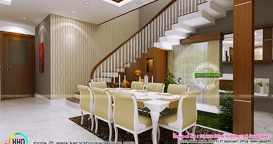 Home theater seating bedroom dining interior kerala for Dining room designs in kerala