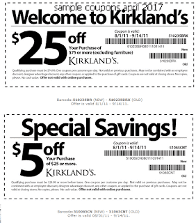 Kirklands coupons april