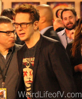 Guardians of the Galaxy director James Gunn arrives at the Doctor Strange premiere in Hollywood.