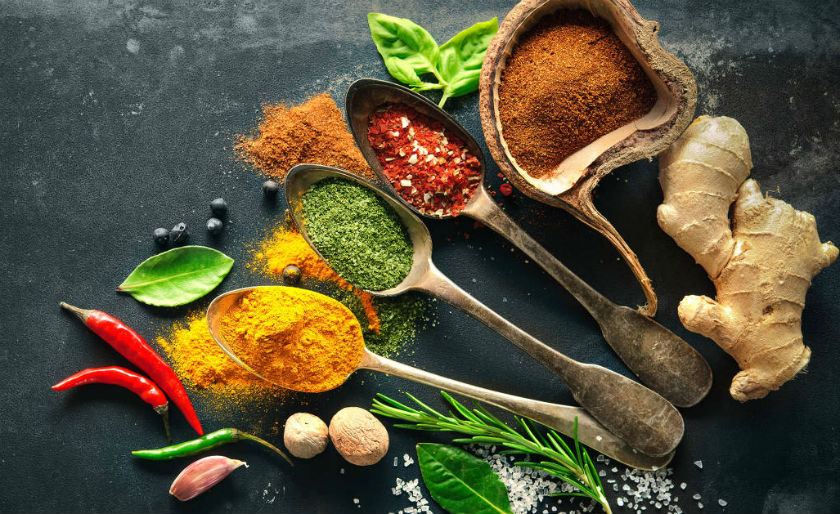 The most commonly used culinary herbs and spices.