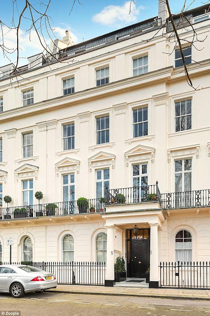 London's Eaton Square is full of beautiful houses and apartments with white stucco facades