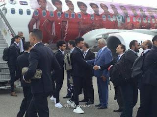 بالصور - وصول بعثة المنتخب المصري ارض روسيا لخوض المونديال