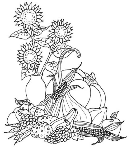 Free Autumn Coloring Pages | Autumn Weddings Pics
