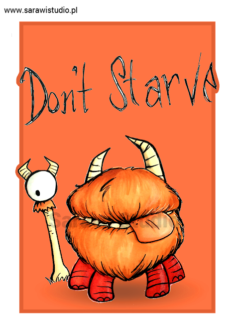 don't starve, gra, klei entertaiment, game, chester, fan art, drawing, rysunek, zwierzątko, skrzynek, skrzynka, 30 day, challenge, comcom!!