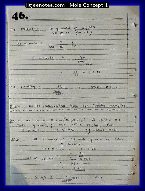 Mole Concept Notes IITJEE14