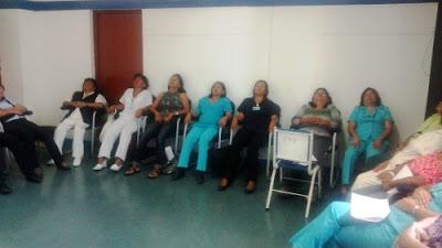 Sesión de Hipnosis con miembros del MINSA