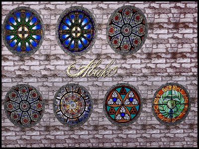 My Sims 3 Blog Murfeels Round Stained Glass Windows By Abuk0
