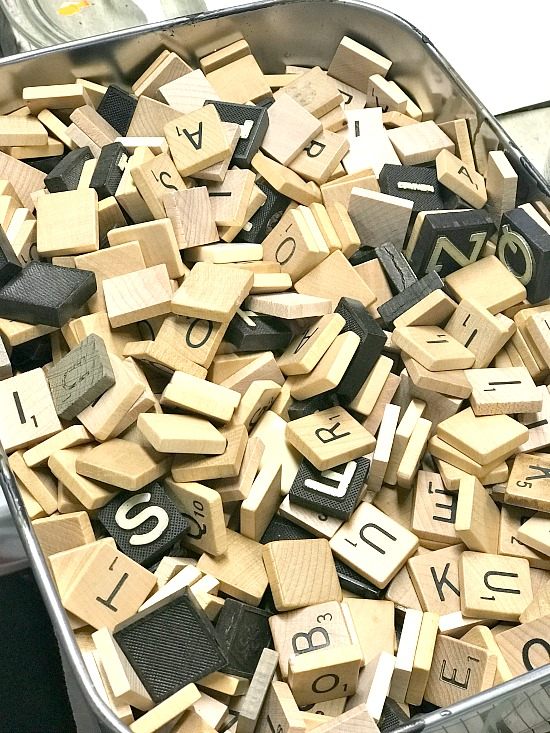 Large stash of Scrabble tiles for DIY Projects
