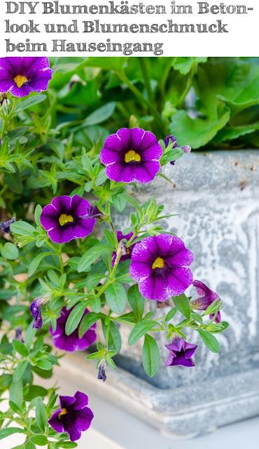 Blumenschmuck beim Hauseingang