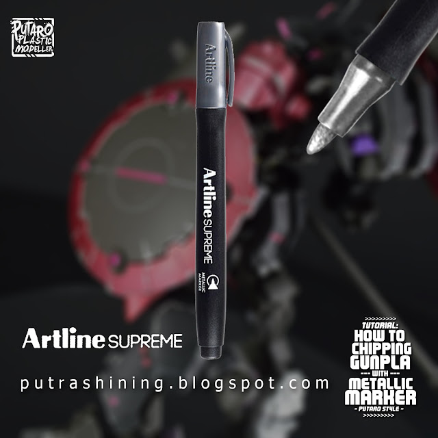 Tutorial: How to Chipping Gunpla with Metallic Marker Putaro Style [TUTORIAL 003]