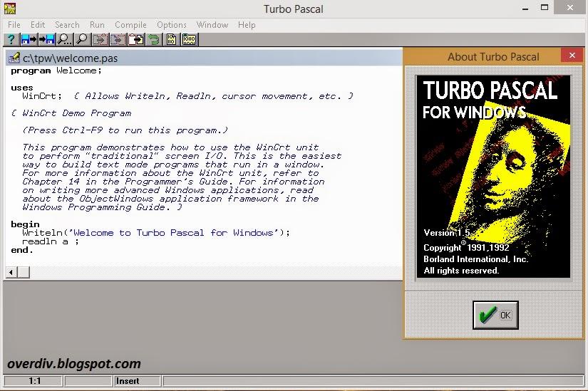 turbo pascal 1 5