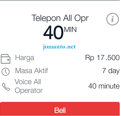 paket nelpon all operator as