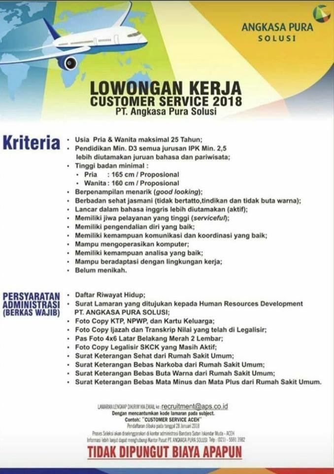 Image Result For Lowongan Kerja Angkasa Pura