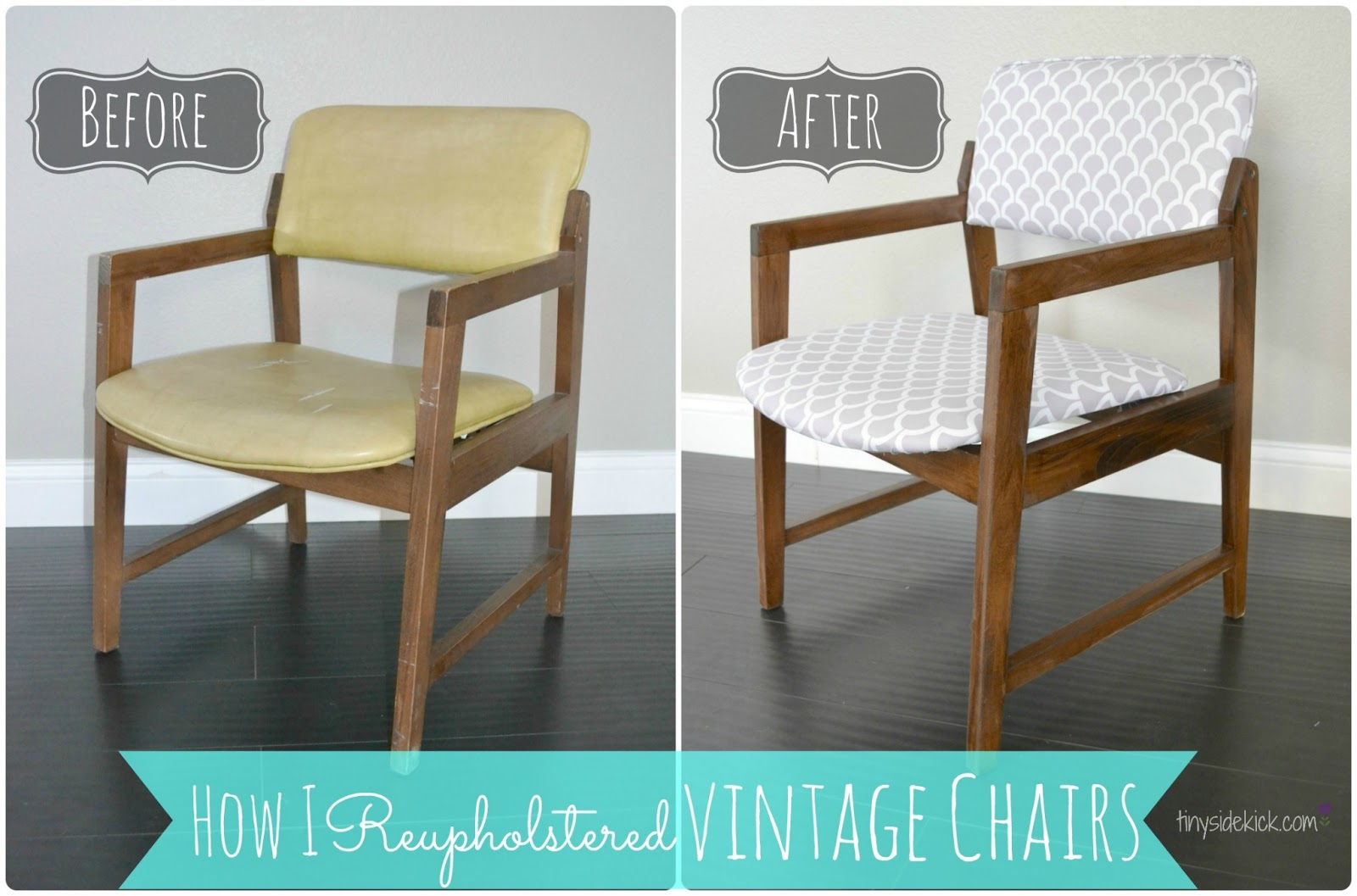 reupholstering vintage dining chairs retro kitchen chairs How to Reupholster Vintage Dining Chairs
