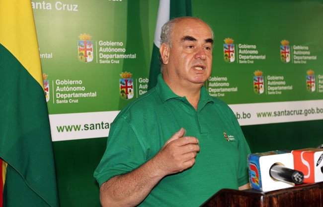 José Luis Parada asesor general de la Gobernación cruceña