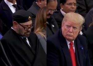 Watch Trump stares at King of Morocco as he sleep while in a meeting.