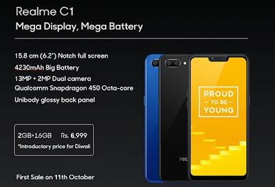 Harga Oppo Realme C1 Dengan Spesifikasi dan Kelebihannya