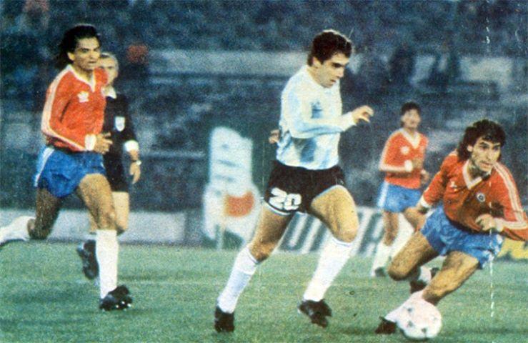 Chile y Argentina en partido amistoso, 20 de abril de 1989