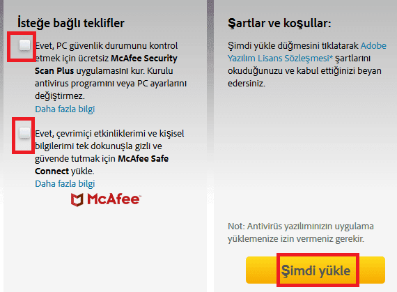 Adobe Flash'ı kurma