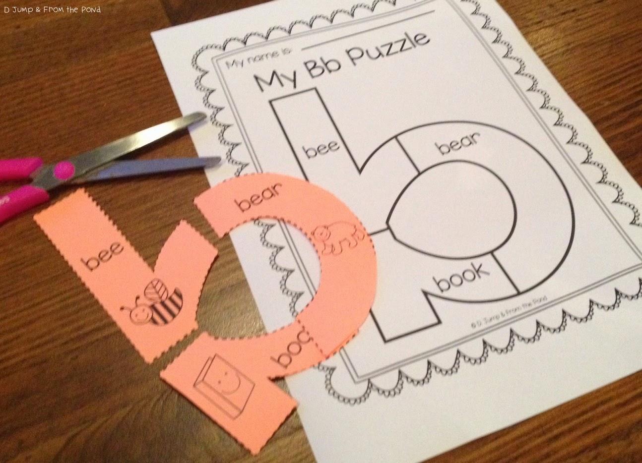 Blog Hoppin Alphabet Letter Puzzles