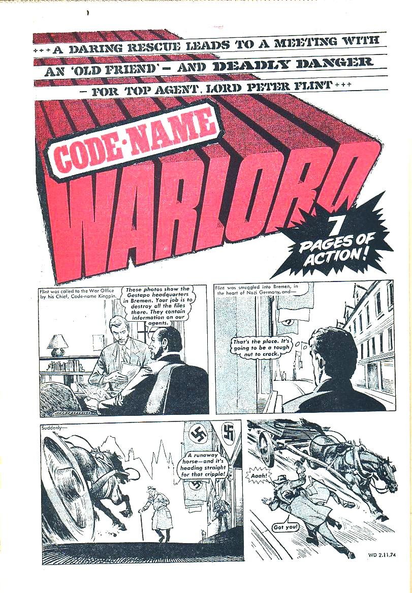 The Bronze Age Of Blogs Code Name Warlord Hi Hansithe Codes Do Point To An Electrical Problem With Transfer And Heres Flint Up Against His Arch Nemesis Boo Hiss Nazi Major Adolph Gruber First Episode Here Being By I Reckon Late Great Brian Lewis