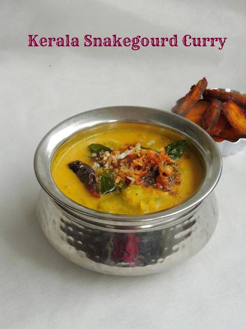 Snakegourd Elissery, Kerala Snakegourd Curry