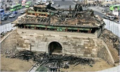 ประตูนัมแดมุนหลังจากถูกเพลิงไหม้ (Namdaemun Gate)