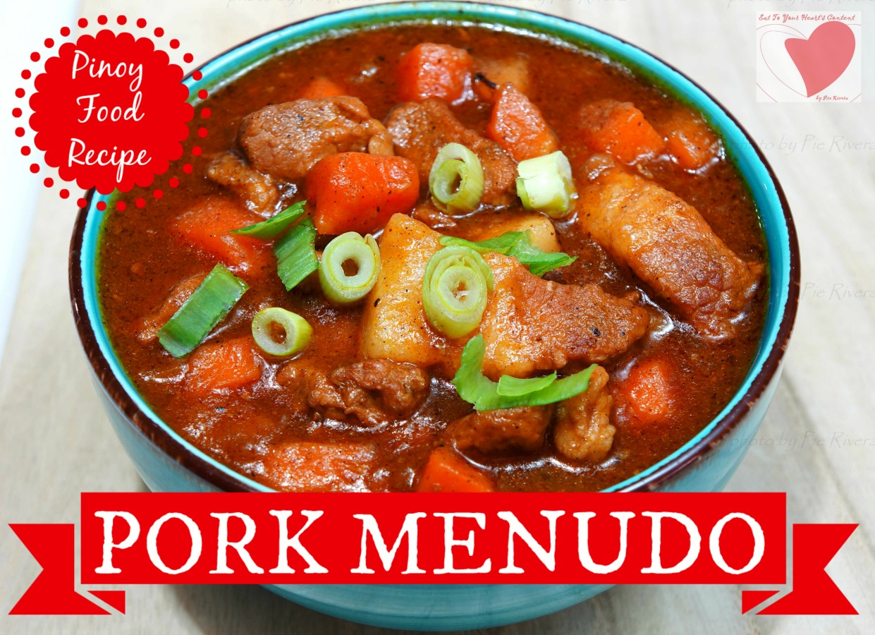 Eat to your hearts content deliriously delicious dining now the next time you think of filipino cuisine think of this pinoy food recipe pork menudo no need to look for an authentic filipino restaurant as you forumfinder Gallery