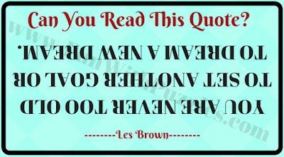 Can you read this upside down message?
