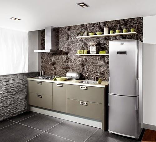 Desain Dapur Minimalis Natural Dengan Batu Alam