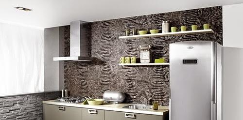 Dekorasi Desain Dapur Pakai Batu Alam Terbaru
