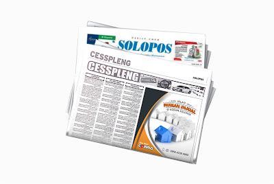 pasang iklan rumah dijual di koran solopos